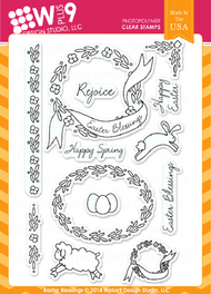 Wplus9 - Easter Blessings Rubber Stamp