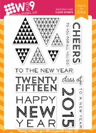 Wplus9 - Twenty Fifteen Rubber Stamp
