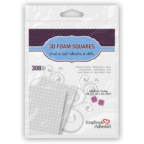 Scrapbook Adhesives Square Small White