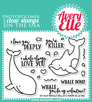 Avery Elle Clear Stamp - Whale Hello (ST-15-47)