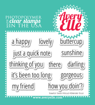 Avery Elle Clear Stamp - Simply Said Hello (ST-14-05)
