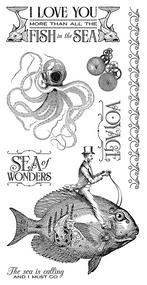 Graphic 45 - Voyage Beneath the Sea - Cling Stamp 2 (IC0360S)