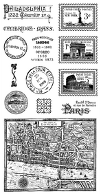 Graphic 45 - Cityscapes - Cling Stamp 2 (IC0354S)