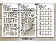 Tim Holtz Mini Layering Stencil - Set 1 (THS-Set 1)