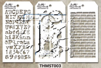 Tim Holtz Mini Layering Stencil - Set 3 (THS-Set 3)