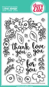 Avery Elle Clear Stamp - Floral Frame (ST-16-13)