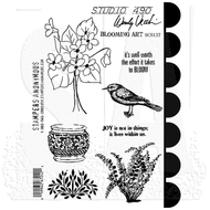 Wendy Vecchi Studio 490 Cling Stamp - Blooming Art (SCS137)