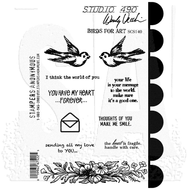 Wendy Vecchi Studio 490 Cling Stamp - Birds For Art (SCS140)