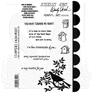 Wendy Vecchi Studio 490 Cling Stamp - Simply. . .Art (SCS139)