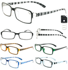 Unisex Crystal Striped Fashion Reading Glasses  12 per bx  .83 ea
