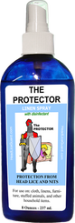 THE PROTECTOR Linen Spray help keep lice and nits off of your loved ones. Spray on movie theater seats, airplane seats, home furniture and bedding.