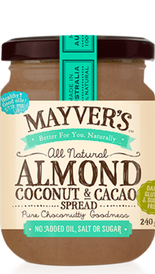 Almond Coconut & Cacao Spread - Mayver's Organic