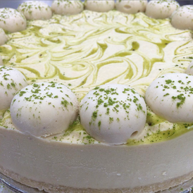Raw Lime & Matcha Cheesecake