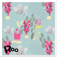 STORY OF ROO Planet Kuinkuu Pink - Organic Cotton JERSEY (0.25m)