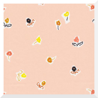 TO MARKET to Market by Emily Isabella - Sidewalk Flowers Pink - 100% Organic Cotton (0.25m)