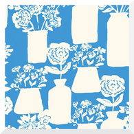 TO MARKET to Market by Emily Isabella - Bottle and Jar Bouquets   Blue - 100% Organic Cotton (0.25m)