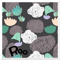 STORY OF ROO | Seascape | Dark - Organic Cotton JERSEY (0.25m)