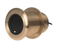 B75M Depth/Temperature Transducer 20° Tilt  The B75M is a bronze, thru-hull, tilted, medium-frequency (80-130kHz), depth and temperature transducer. The ceramic element is tilted for built-in deadrise compensation, giving excellent echo returns for more accurate depth readings.