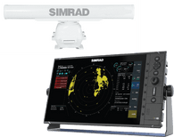 """Simrad R3016 10 kW 4 foot antenna radar kit is a dedicated 16"""" widescreen Radar Control Unit and 10 kW HD Radar. Kit includes R3016 radar control unit, 10 kW pedestal and 4 ft antenna, 10 kW radar processor, Interconnection cable 20m (66 ft), 1.8 m (6 ft) Ethernet cable and 5 pin yellow to RJ45 adapter cable"""