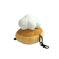 Gem Biscuit Keychain White