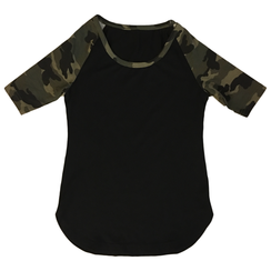 Little XO Kings Camo Mesh Raglan Dress