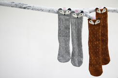 Mini Dressing Raccoon Knee High Socks