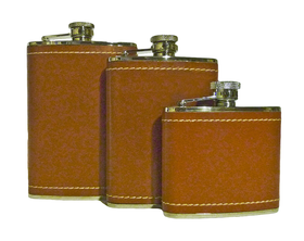 Tan Leather Hip Flasks