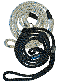 Gundog Slip Leads (rubber fittings): black, white