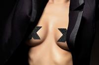 Bijoux Indiscrets Flash Pasties - Cross