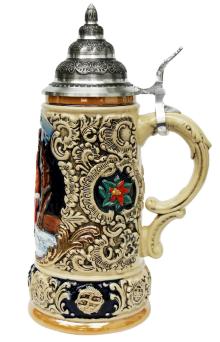 Christmas Ceramic Beer Stein