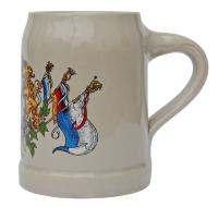 Bavaria Crest German Ceramic Beer Mug 0.5 Liter