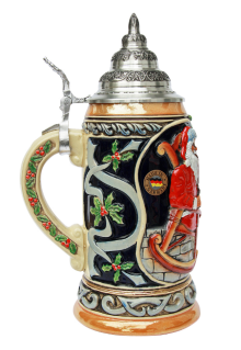 Ceramic Christmas Beer Stein for Sale