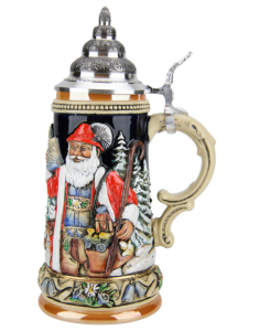 Christmas Beer Stein for Sale Ceramic