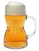Authentic Dirndl Glass Beer Mug