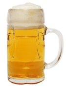 Traditional Lederhosen Glass Beer Mug