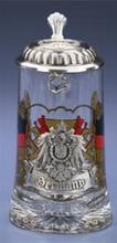 0.5 Liter German Glass Beer Stein with Lid