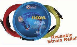 Coilhose Pneumatics PFE40254T 1/4 In x 25 Ft Flexeel Blue Air Hose 1/4 In Fitting