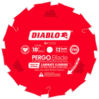Diablo D1012LF 10 in. x 12 T PCD Laminate Flooring Pergo Diamond Tipped Saw Blade