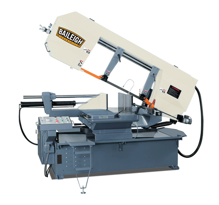 Baileigh BS-24SA-DM Horizontal Semi-Automatic Dual Mitering Horizontal Band Saw, (Product image is only a representation, actual product appearance may differ slightly)