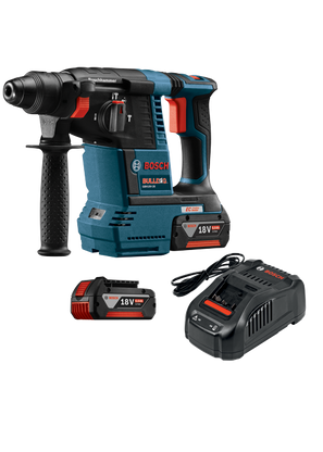 Bosch GBH18V-26K 18V Brushless 1 In SDS-plus Bulldog Rotary Hammer Kit