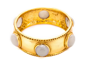 Julie Vos Baroque Bangle Moonstone