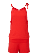 Playsuit in poppy red |Wellicious at Fire and Shine | Women's jumpsuit