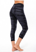 V-FIt Crop in Black Summit | Nux at Fire and Shine | Womens Leggings