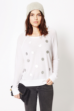 Cropped Pullover With Silver Dots | Sundry at Fire and Shine | Womens Tops