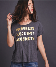 Sunday Sunrise Tee in Grey | Sundry at Fire and Shine | Womens Tops