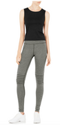 Rebekka Full Length Tights in Heather Grey   Vie at Fire and Shine   Womens Leggings