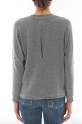 Dolman Long-Sleeve Top in Heather Grey | Sundry at Fire and Shine | Womens Tops