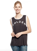 Golden Muscle Tank | Sundry at Fire and Shine | Womens Tanks
