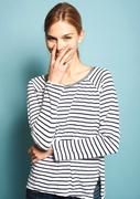 Sundry - Stripe Long-Sleeve - White/Navy