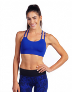 Strappy Bra in Royal Blue | Nux at Fire and Shine | Womens Crops